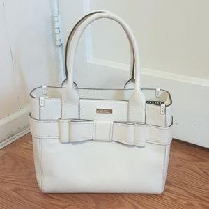 Kate Spade White Cream handbag with brown lining